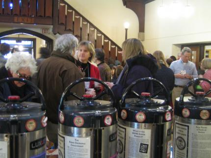 Come to Coffee Hour--camaraderie and Fair Trade coffee and tea.