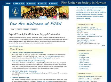 FUSN's new Web site launched in 2009.