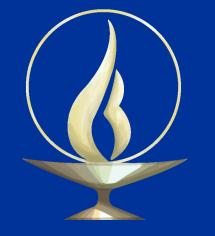 A flaming chalice is a symbol of UU faith.